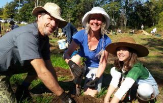 The O'Donnell-Parr family help out at a previous National Tree Day event